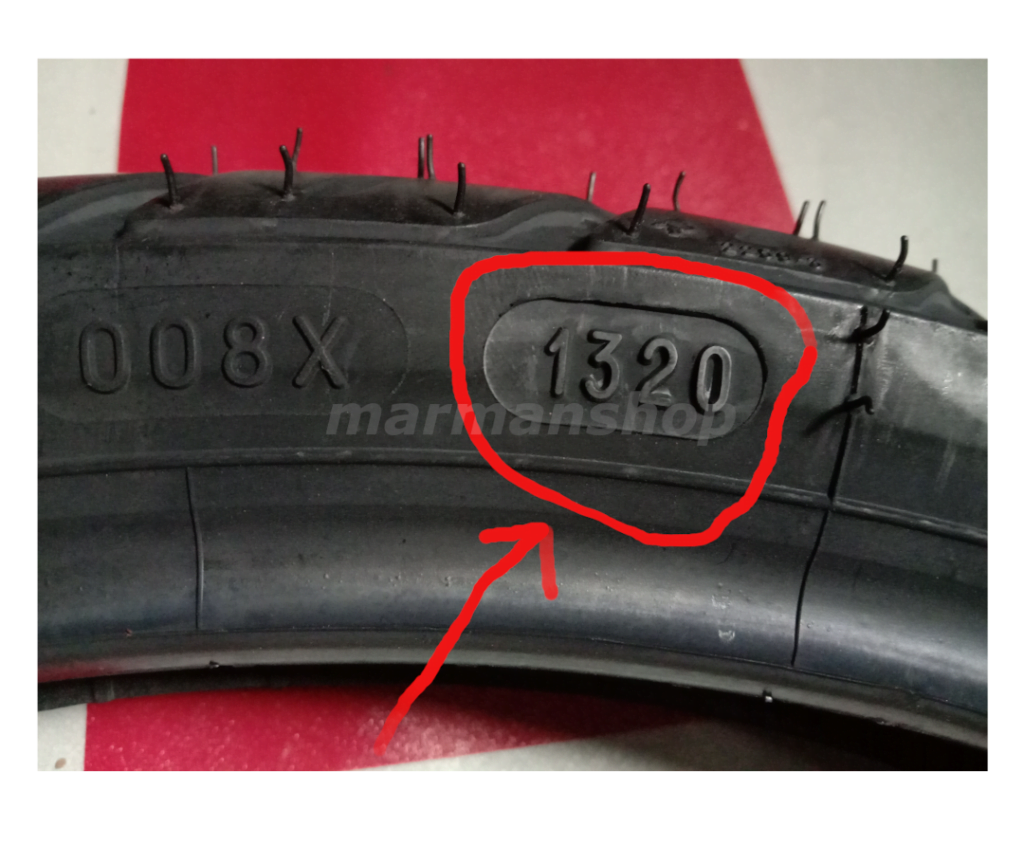 gambar menunjukkan usia tayar kereta motor anda